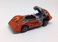 Vintage 1968 REDLINE Hotwheels McLaren M6A Spectra Orange Racer Toy Car
