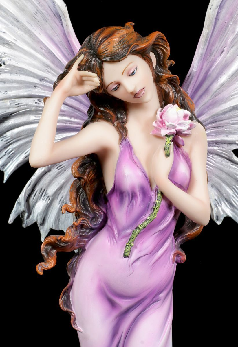 Tamaño Figura Elfos - Hada Nymphaea con Nenúfar - Hada - Flor Estatua decorativa ROSA 9990d3