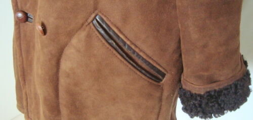 Genuine Brown Breasted Xl Coat Sheepskin Double Men's 3202 Size xgwH6dxtq