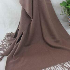 Vintage-Women-Man-Solid-Long-Cashmere-Wool-Blend-Soft-Warm-Wrap-Shawl-Scarf-069