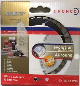 Dronco-Disco-diamantato-D-115mm-taglio-cemento-pietra-dura-e-naturale-piastrelle