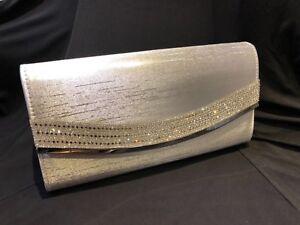 ballo satinato polso Pochette da argento anno Matrimonio borsa di da donna fine qwZBwt8