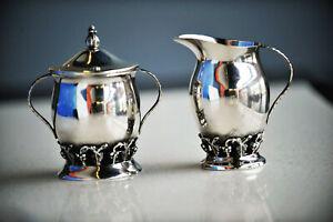 Antique Sterling Silver Cream & Sugar Set