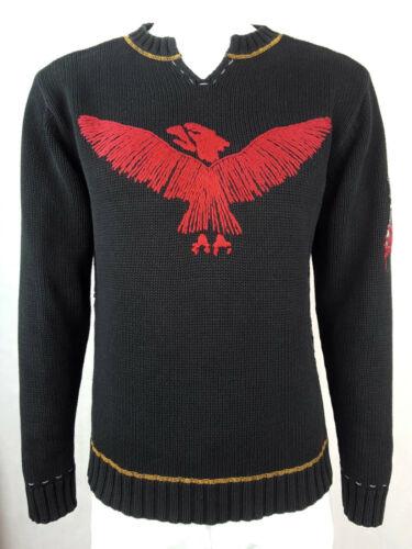 Denver cuello Xl Eagle Men algodón Jones de L Jumper Jersey redondo Jack de con Black punto ZxEwqzEHF