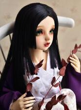 "1//3 8-9-10/"" Bjd Pullip Doll Long Wig Hair Jet Black Straight Special Iron Perm"