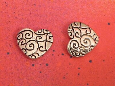 15 Celtic Heart Charms Open Hearts Charm Silver Connectors for Jewelry Making