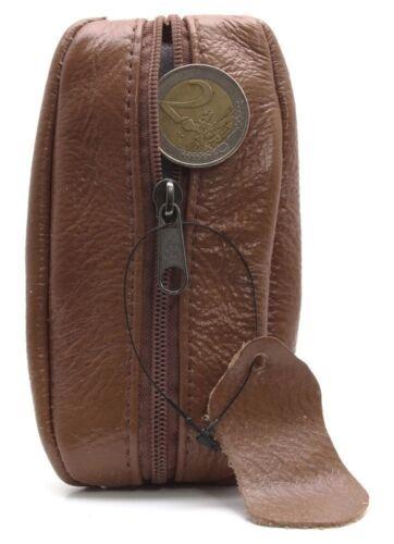 Porte-monnaie Bourse en cuir véritable d/'excellente qualité Homme Femme