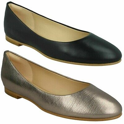 BLANCHE WEST LADIES CLARKS FLAT SLIP ON BALLERINA WIDE CASUAL PUMPS SHOES SIZE