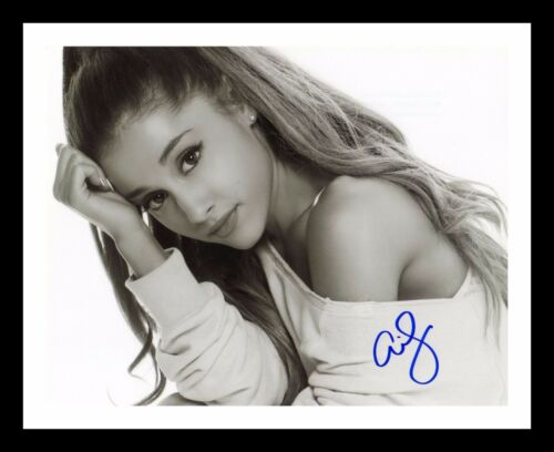ARIANA GRANDE AUTOGRAPHED SIGNED /& FRAMED PP POSTER PHOTO