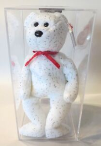 ec159605c3f Authenticated ODDITY Ty Beanie Baby WHITE DECADE w  NO BUTTON On His ...