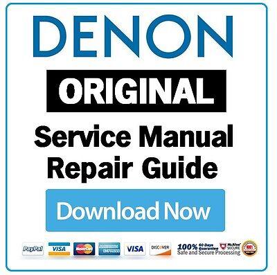 Denon AVR X4400H A/V Receiver Service Manual and Repair Guide | eBay