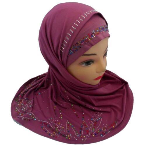 Velo STRASS Islam copricapo Jadeed muslima Hijab Khimar Panno Niqab