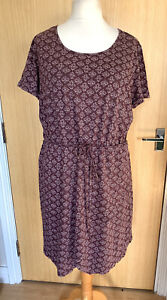 Fat Face Ladies Dress 16 Summer Casual Lightweight Jersey Holiday Everyday