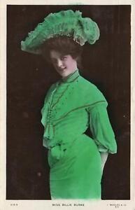 1903-1908-VINTAGE-MISS-BILLIE-BURKE-DRESSED-in-GREEN-BEAGLES-POSTCARD-USED