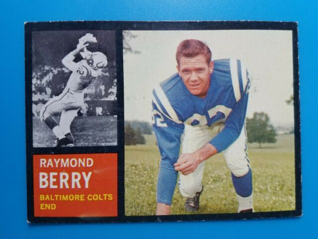 "1962 TOPPS FOOTBALL #5 RAYMOND RAY BERRY ""SP"", BALTIMORE COLTS, HOF EX+"
