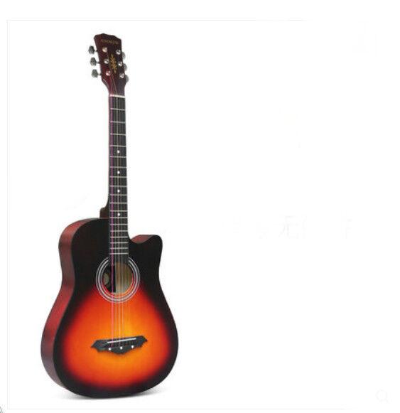 38 inch Sunset Farbe Basswood Farbeful Strings Cutaway Acoustic/Folk Guitar