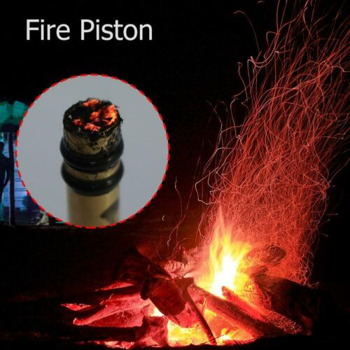 Brass Metal Fire Piston Outdoor Emergency Fire Tube Camping Survival Tool