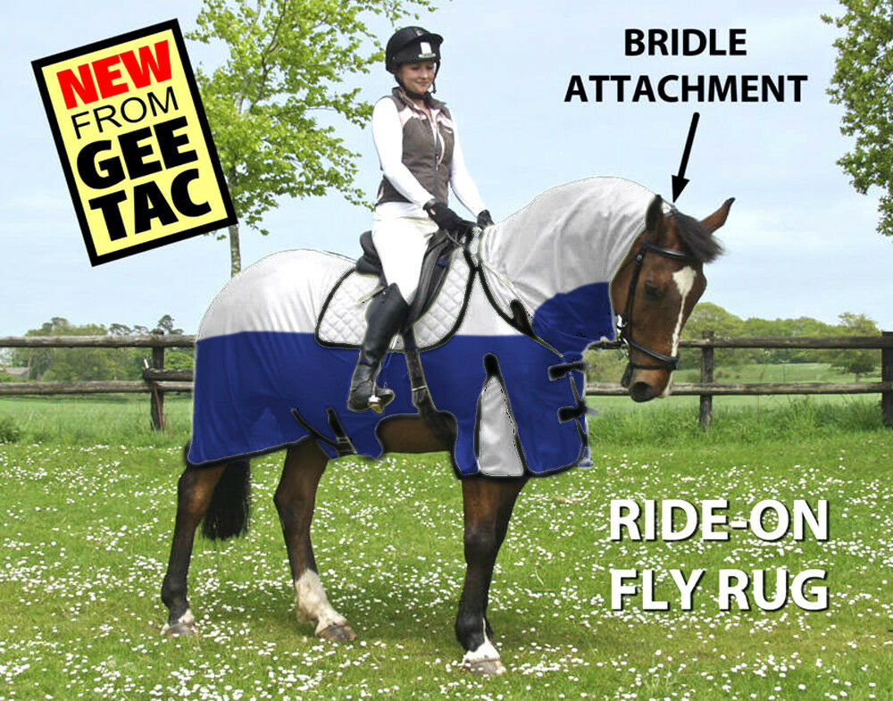 GEE TAC HORSE RUG   RIDE ON FLY RUG NO JOIN  COMBO UV RATED  FLY MASK ALL SIZES  first-class service