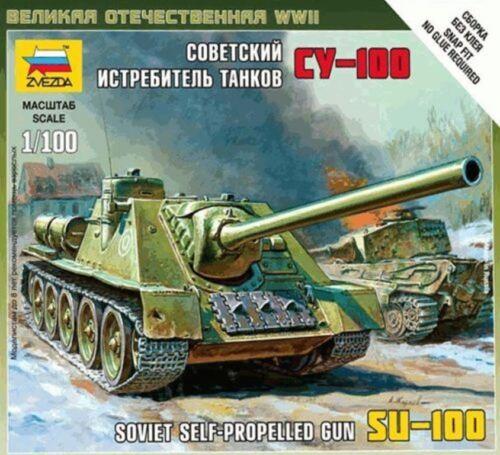scala 1//100 Art of tactic SOVIET SELF-PROPELLED GUN SU-100 ZVEZDA 6211