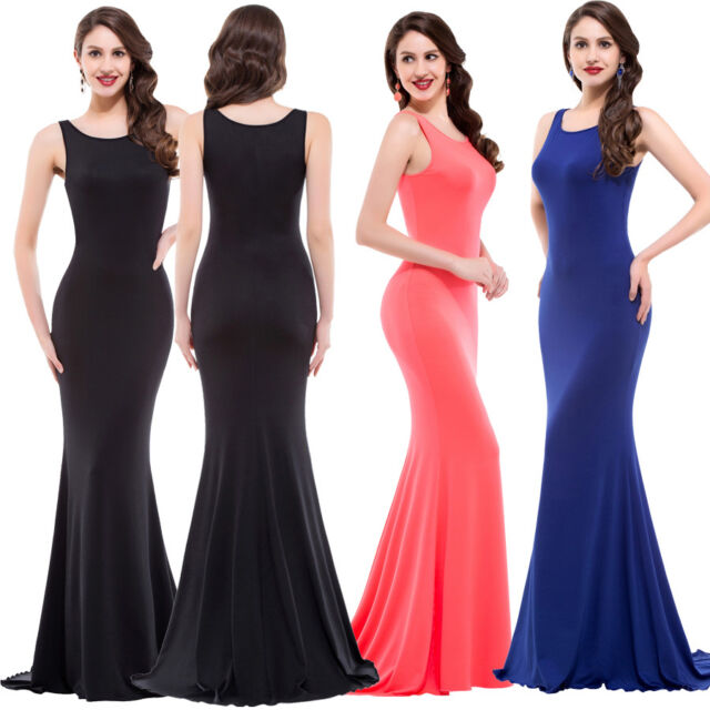 Sexy Bridesmaid Bodycon Long Wedding Cocktail Prom Ball Evening Party Maxi Dress