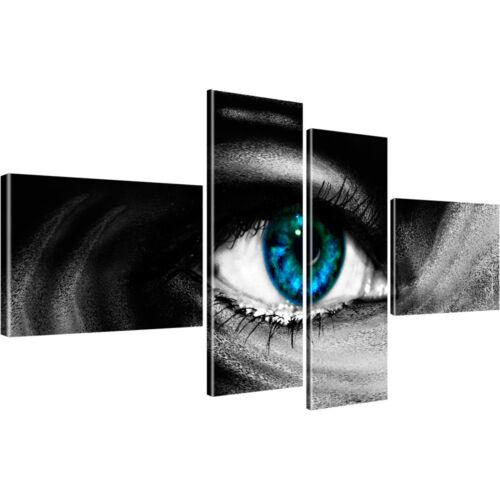 Abstrakt Auge Schwarz-Weiss Bilder auf Leinwand Digitalart