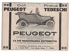 Pubblicità epoca 1914 PEUGEOT AUTO CAR vintage advert werbung reklame publicitè