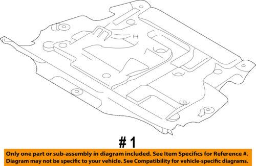 VOLVO OEM 10-16 XC60 Splash Shield-Under Engine//Radiator Cover 31290966