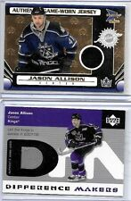 JASON ALLISON LOT OF (2) DIFFERENT AUTHENTIC GAME WORN JERSEY CARDS