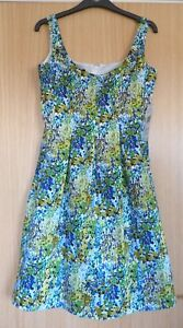 Nine-West-Ladies-Dress-US-2-UK-6-BNWT-Floral-Occasion-134-Fit-and-Flare-Ditsy