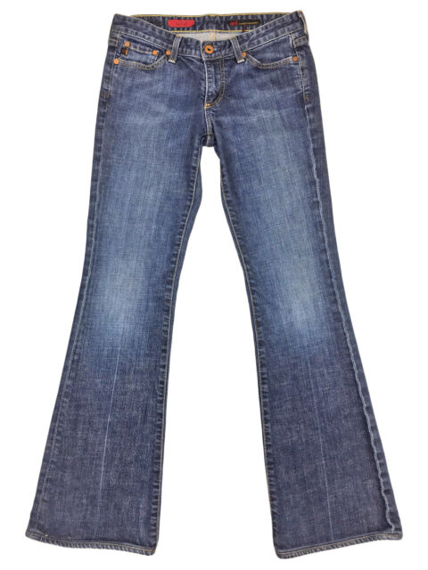 AG Adriano Goldschmied Womens The Club Boot Cut Flare Medium Wash Jeans Size 27R