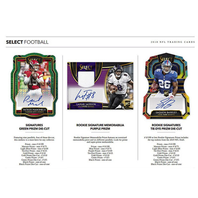 2018 PANINI SELECT FOOTBALL HOBBY PICK YOUR PLAYER (PYP) 1 BOX BREAK