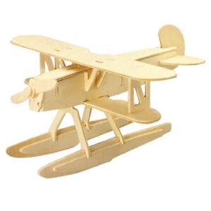 3D-Woodcraft-DIY-Heinkel-HE51-Plane-Model-Wooden-Construction-Kit-Toy-Gift-HY