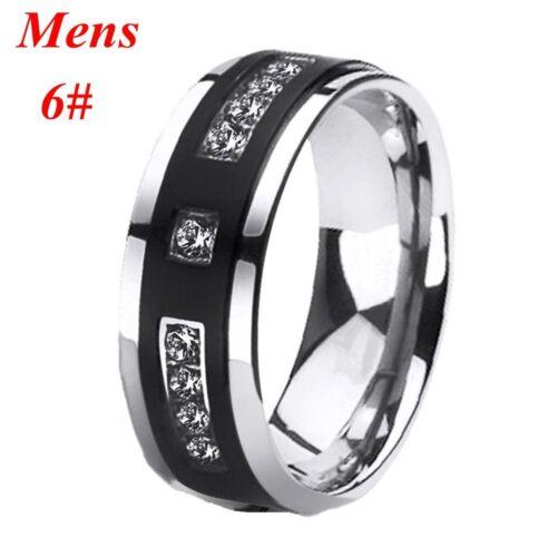 Engagement Wedding His Her 3pc Stainless Steel 1 25 Ct Cz Bridal Set Mens Titanium Wedding Band Engagement Wedding Ring Sets