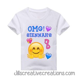 Image Is Loading Emoji Shirt Birthday Personalized Shirts T