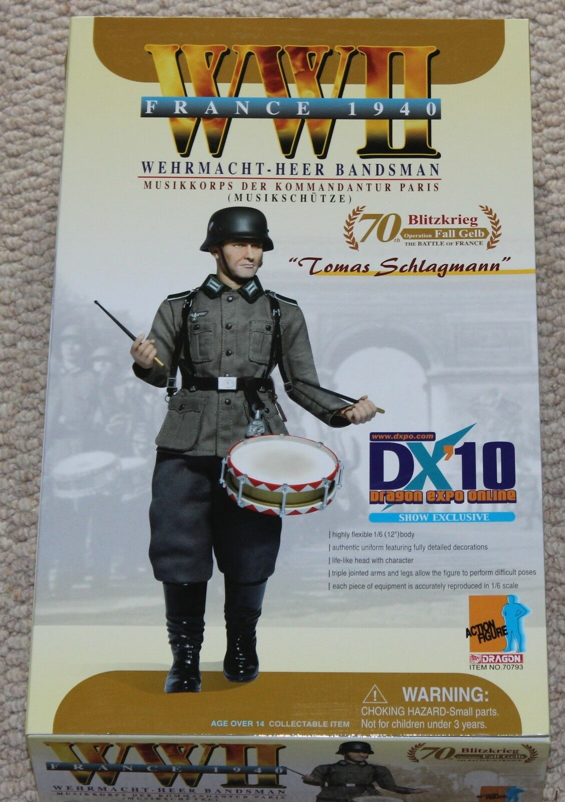 Dragon action figure ww11 dx10 lomas german 1/6 12'' box 70793 did cyber hot toy