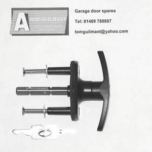 Henderson-Merlin-garage-door-black-T-bar-lock-handle-long-spigot-long-spindle