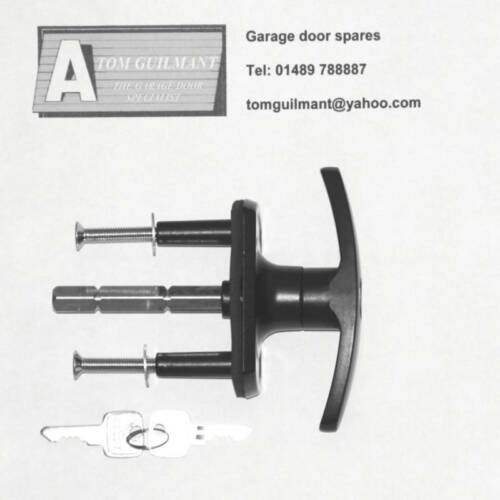 Henderson Garage Door Spares Black T Bar Lock Handle Ebay