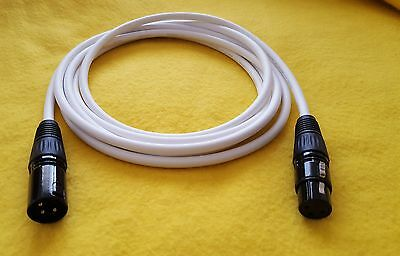 ---Pair Balanced XLR 3Pin Canare L-4E6S Audio//Micro Cable A03P m//f 4m 13.5ft