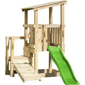 spielturm cascade mit rutsche 1 75 m kletterrampe kletterturm spielhaus holz ebay. Black Bedroom Furniture Sets. Home Design Ideas