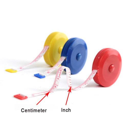 3 couleurs total 3 x Measuring Tapes 150 cm longueur-Rétractable