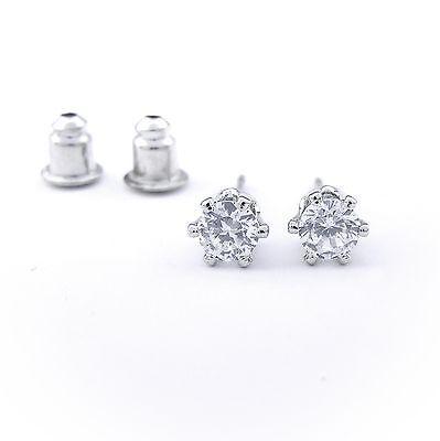 Pflichtbewusst Neu Ohrstecker Mit 4mm Zirkonia Steine In Crystal/kristallklar Ohrringe Durchblutung Aktivieren Und Sehnen Und Knochen StäRken
