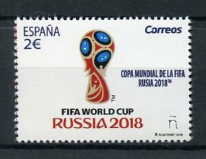 Spain-2018-MNH-FIFA-World-Cup-Football-Russia-2018-1v-Set-Soccer-Sports-Stamps