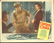 CAPTAIN CHINA orig 1950 lobby card JOHN PAYNE/GAIL RUSSELL 11x14 movie poster