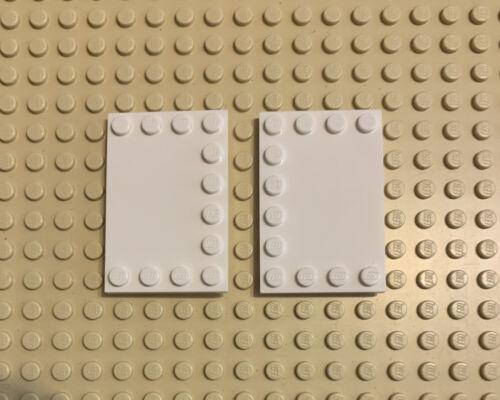 LEGO Lot of 2 Plate 4x6 W 12 Knobs White 4163986 Bricks Pieces Parts Dots Dot Le
