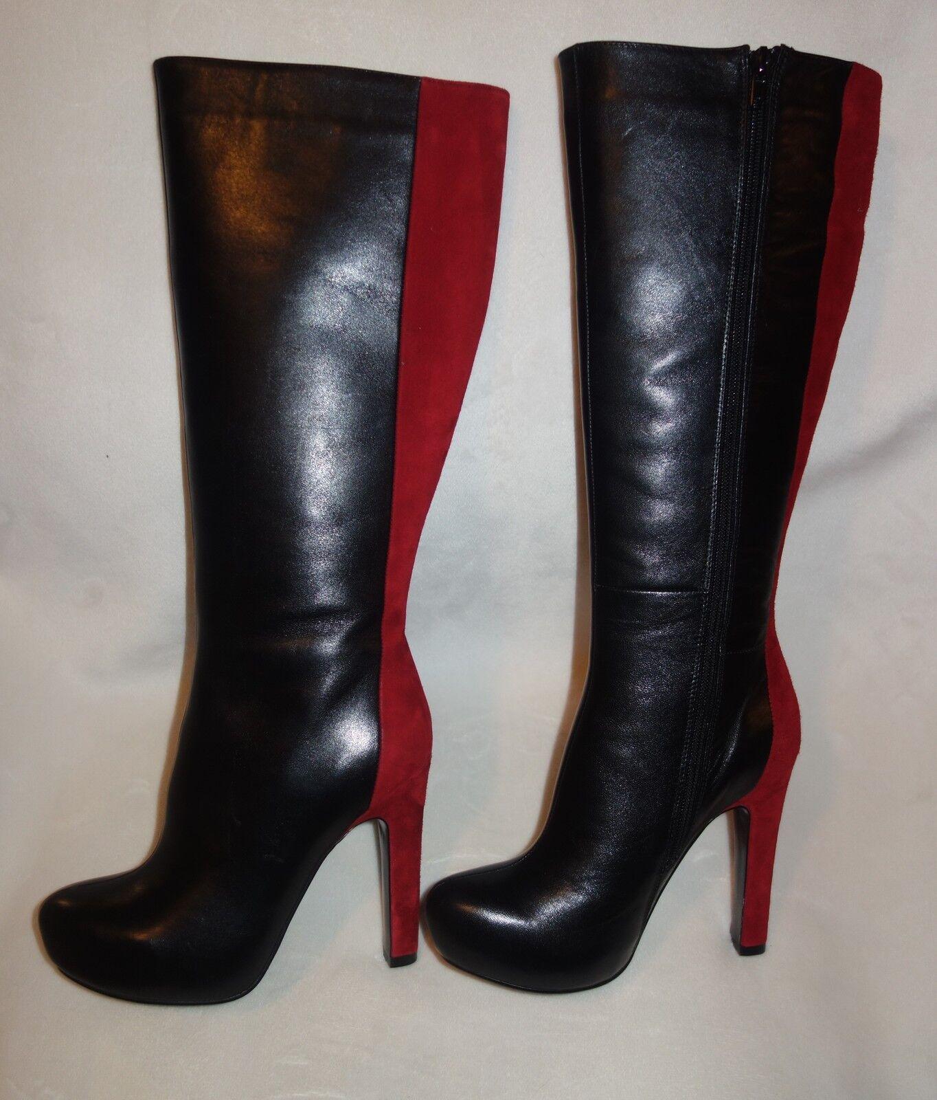 online economico ROBERTO BOTELLA BOTELLA BOTELLA  Combined knee high stivali  nero rosso sz 36 new  negozio outlet