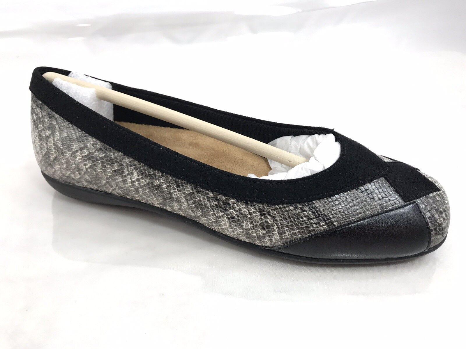 Trojoters Sharp Ballet Zapatos sin Taco Sin para para para mujer Talla 5.5 M antideslizante en Negro Estampado De Serpiente Nuevo  Envio gratis en todas las ordenes