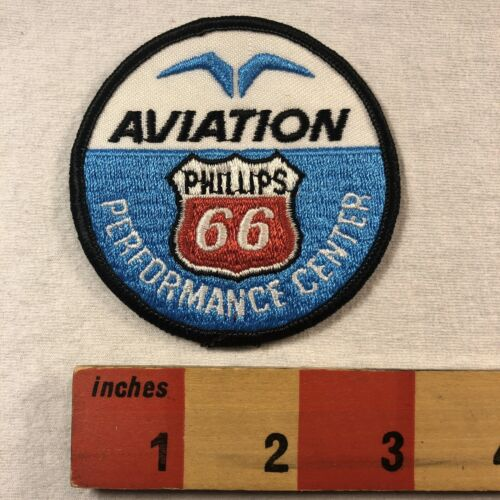 Vtg Embroidered PHILLIPS 66 AVIATION PERFORMANCE CENTER Advertising Patch 00SE
