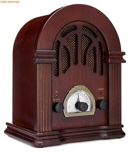 Classic-FM-Radio-Bluetooth-Tuner-Wooden-Vintage-Collector-Handmade-Speaker-table