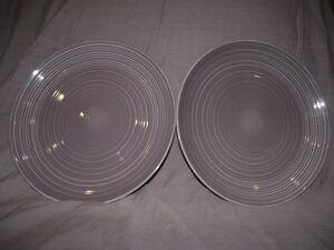 Image is loading Set-of-2-Denby-Ripple-Lilac-Purple-Dinner- & Set of 2 Denby Ripple Lilac Purple Dinner Plates | eBay