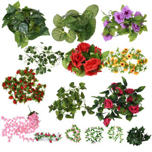 7-87FT-Artificial-Fake-Faux-Ivy-Vine-Plant-Garland-Wedding-new-L3O8